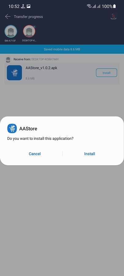 Screenshot of AAStore