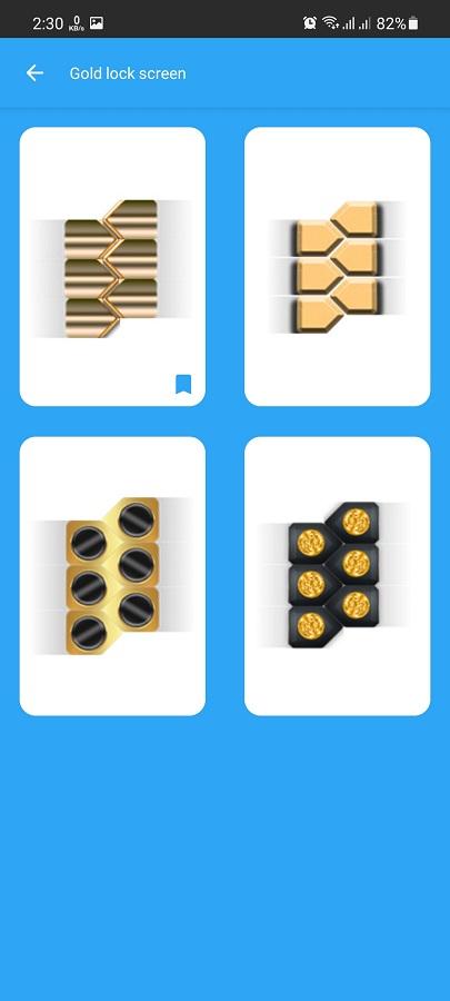 Screenshot of Gold Screen Lock Apk Download