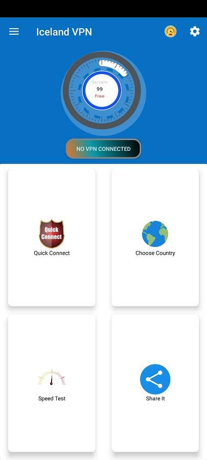 Screenshot of Iceland VPN ML