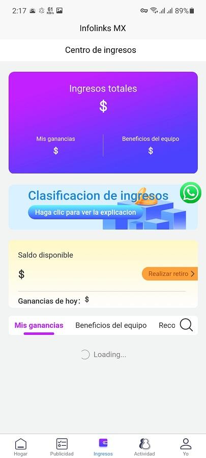 Screenshot of Infolinks MX Download
