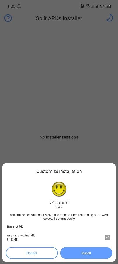 Screenshot of LP Installer