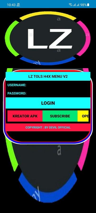 Screenshot of LZ H4X Menu V2 FF