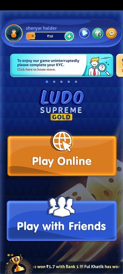Screenshot of Ludo Gold Game