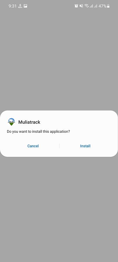Screenshot of MuliaTrack Apk