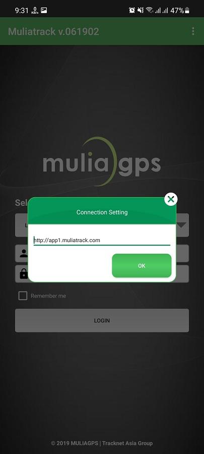 Screenshot of MuliaTrack App Apk