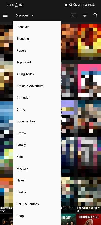 Screenshot of Netflix SV4 App