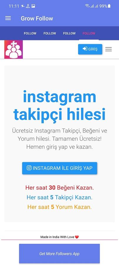 Screenshot of Grow Followers Apk