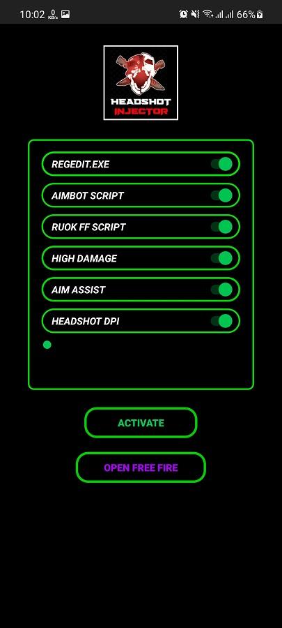 Screenshot of Headshot Injector Android