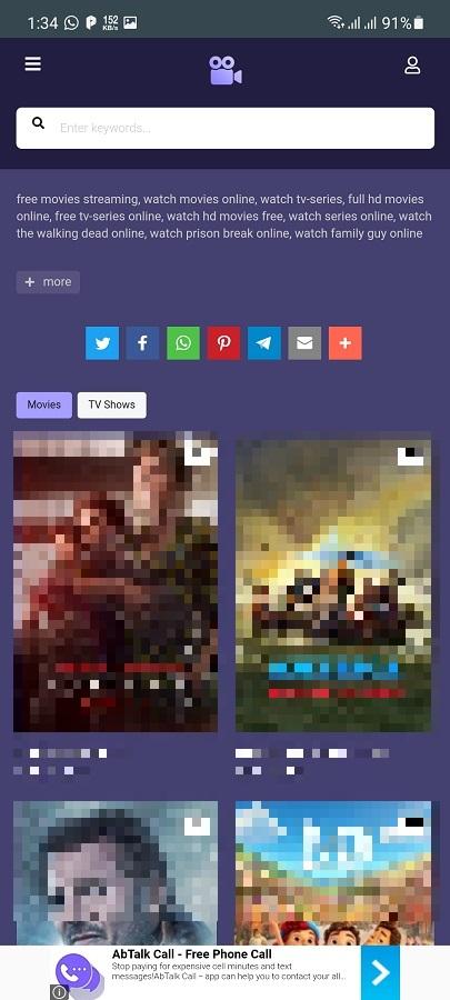Skermôfbylding fan MoviesJoy Android