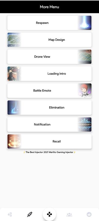 Screenshot of Warlito Gaming Injector Apk