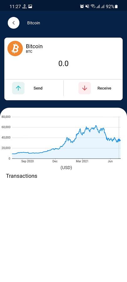 Screenshot of Xum Wallet Android
