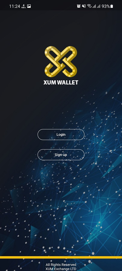 Screenshot of Xum Wallet Apk