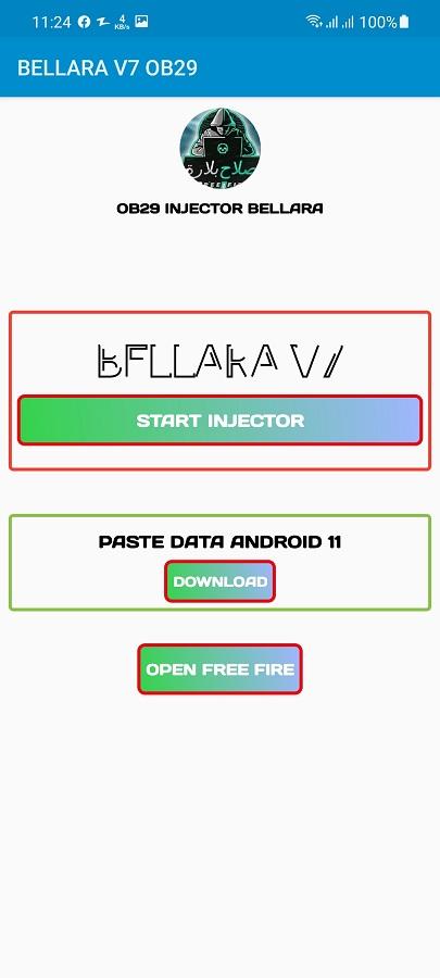 Screenshot of Bellara Injector App