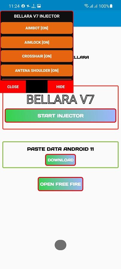 Screenshot of Bellara Injector Download