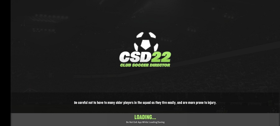 Screenshot of Club Soccer Director 2022