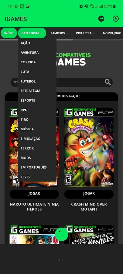 Screenshot of IGAMES Mobile Apk Download