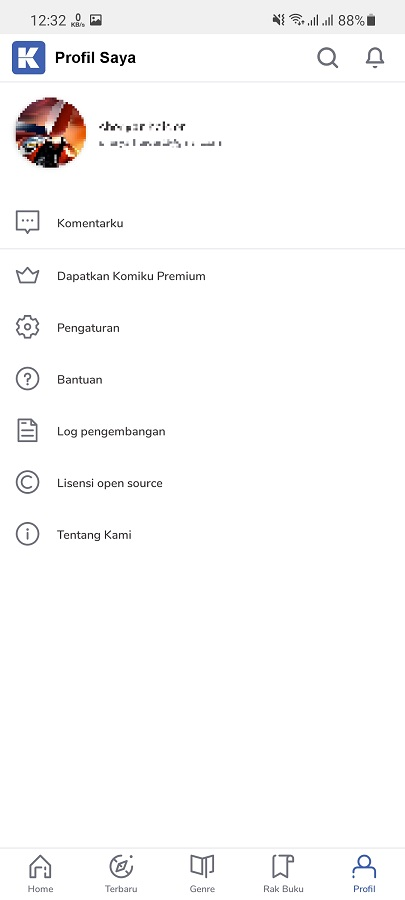 Screenshot of Komiku Apk Download