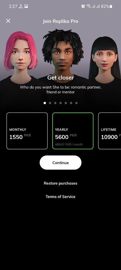 Screenshot of Replika Romantic Partner Android