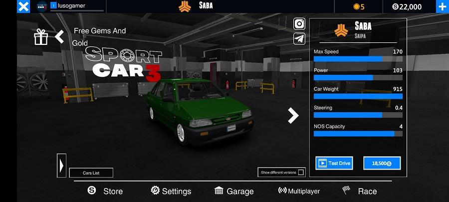 Screenshot of Sport Car 3 Apk Download