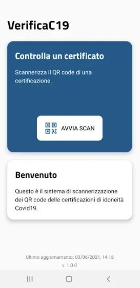 Screenshot of VerificaC19 Apk