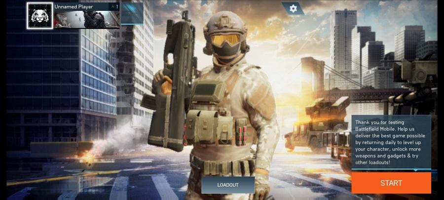 Skermkiekie van BattleField Mobile Android