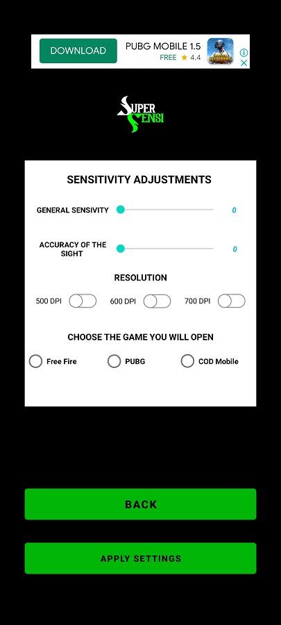 Screenshot of Super SENSI Android