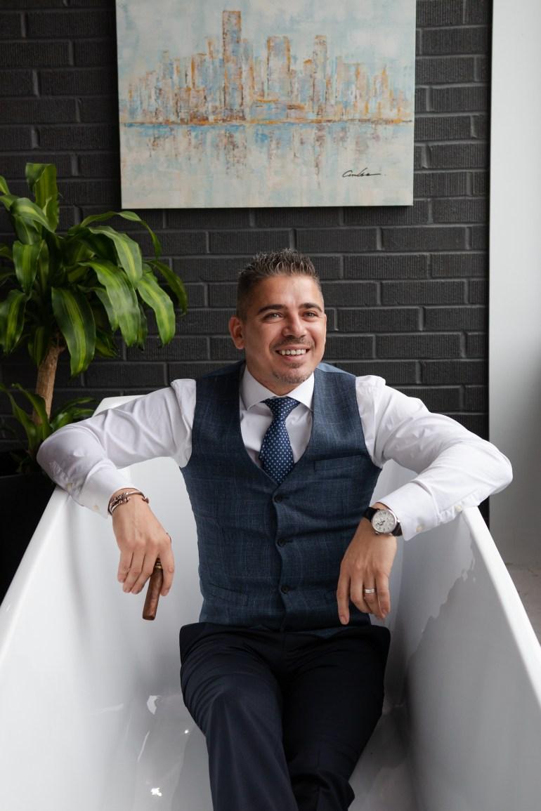 Miguel Braga, owner of Kubebath .NOAH GANHÃO