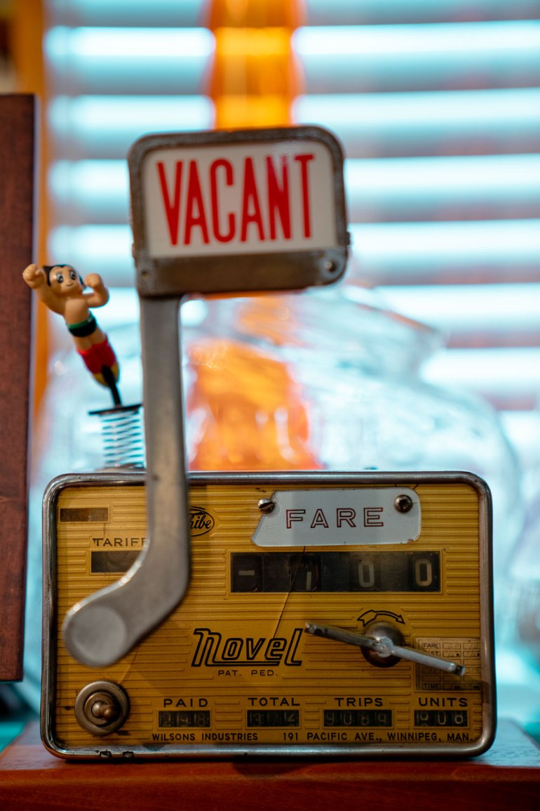 Antique taxi meter from the Armando Terra collection