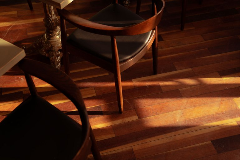 a chair at Mercado Negro