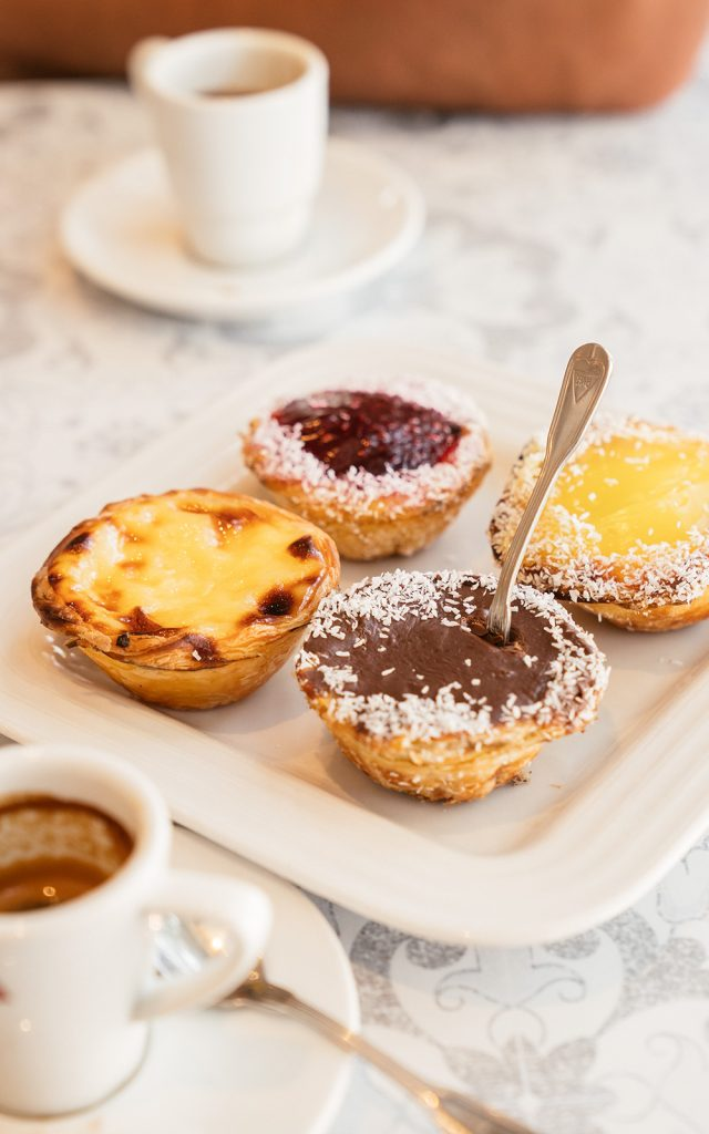 Pasteis de Nata and espresso at Venezia bakery in Toronto