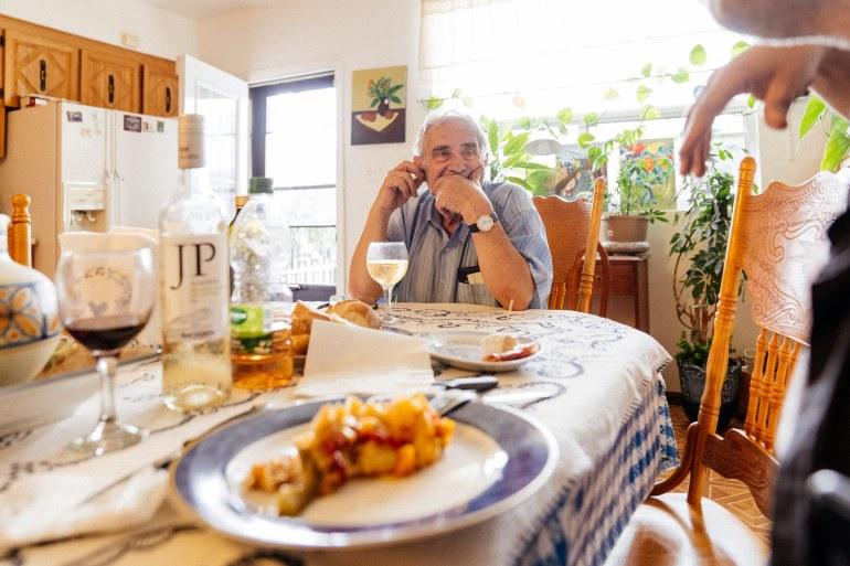 Eating dinner - Bacalhau Maria Melo