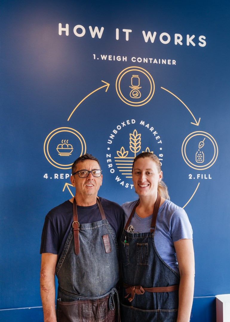 Unboxed Market owners Michelle Genttner and Luis Martins