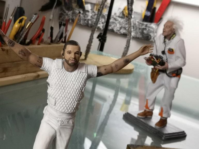 Drake sculpture