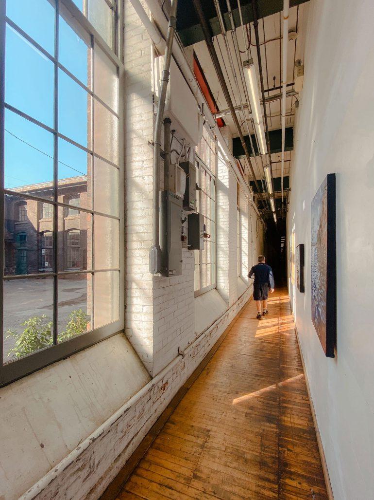 Hallway in Cotton Factory Building in Hamilton, Ontario