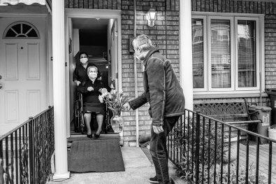 Luso–Life - Canada COVID Portrait - visiting senior by George Pimentel