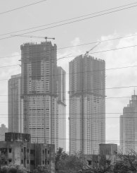 Apartment buildings in Mumbai
