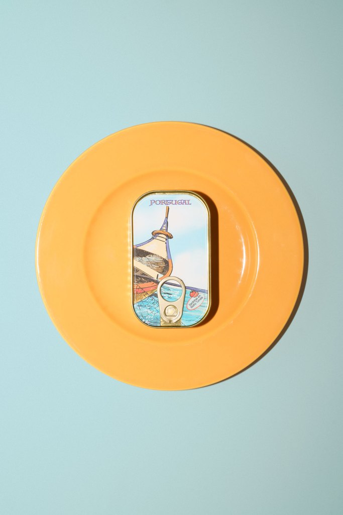 I Love Portugal sardine can on a plate
