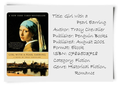 [book Review] Girl With A Pearl Earring By Tracy Chevalier