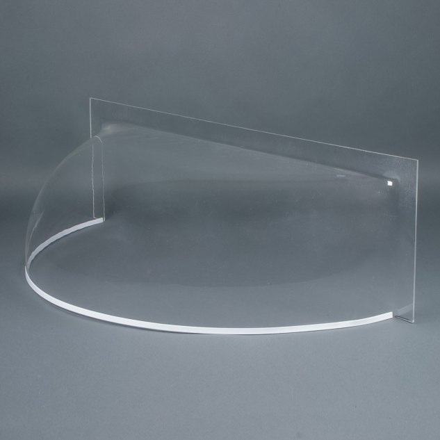 """Clear 3/16"""" round front cast acrylic bubble window well cover"""