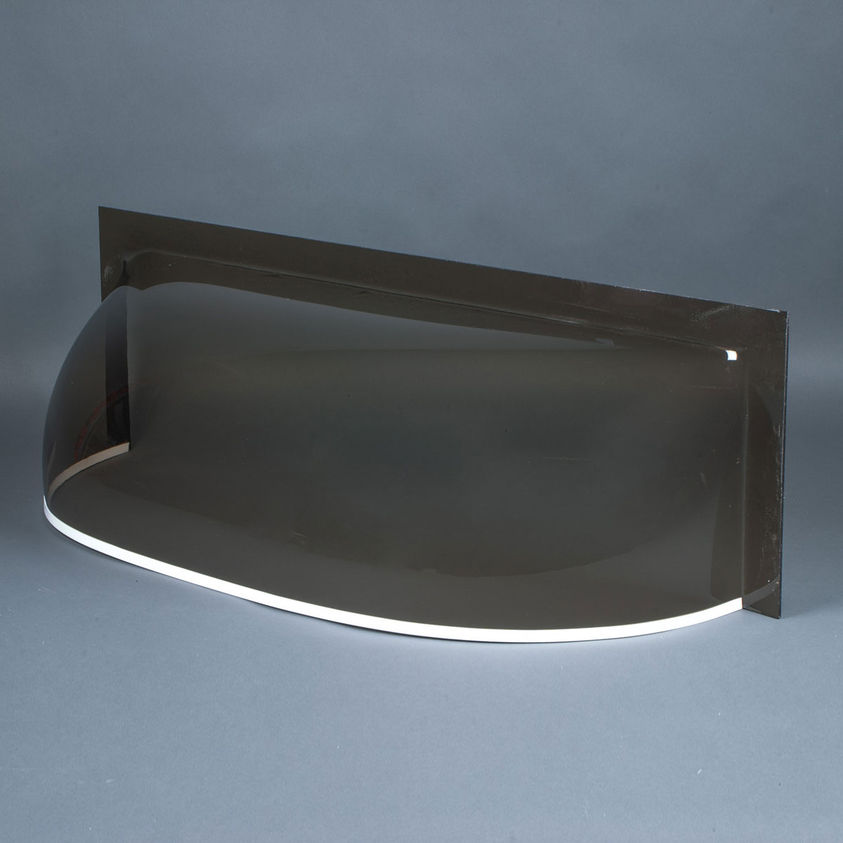 """Smoke 3/16"""" flat front cast acrylic bubble window well cover"""