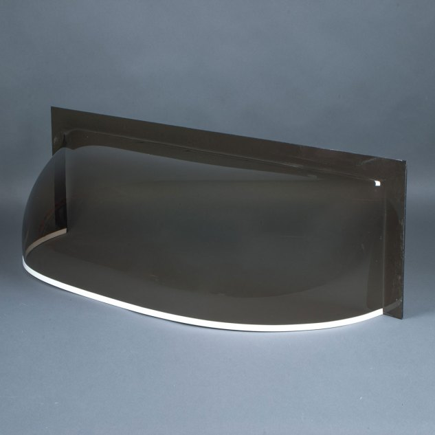 "Smoke 3/16"" flat front cast acrylic bubble window well cover"