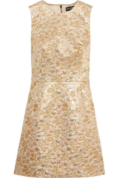 Dolce & Gabbana Metallic Brocade Mini Dress