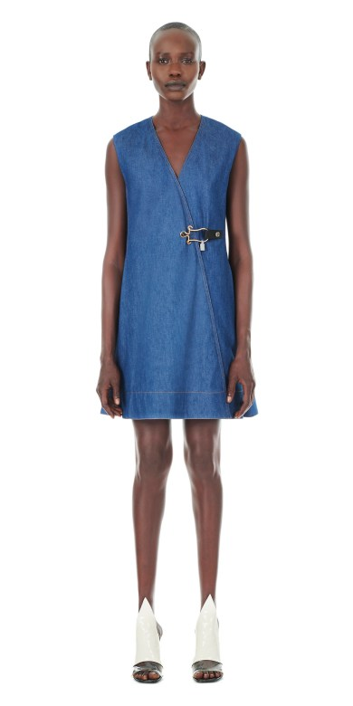Balenciaga Jewel Clasp Denim Dress