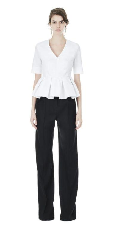 Balenciaga Peplum Short Sleeve Top