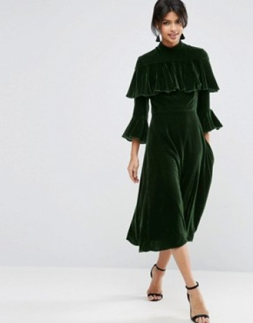 asos-trumpet-sleeve-velvet-midi-dress