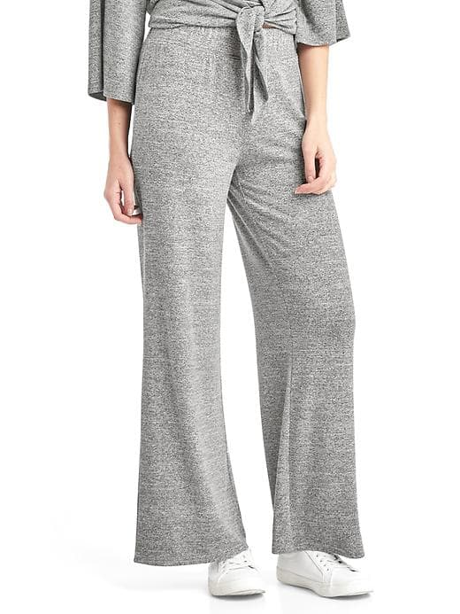 Gap Softspun Knit Wide-leg Pants