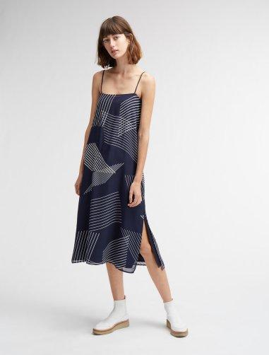 DKNY_printed slip dress