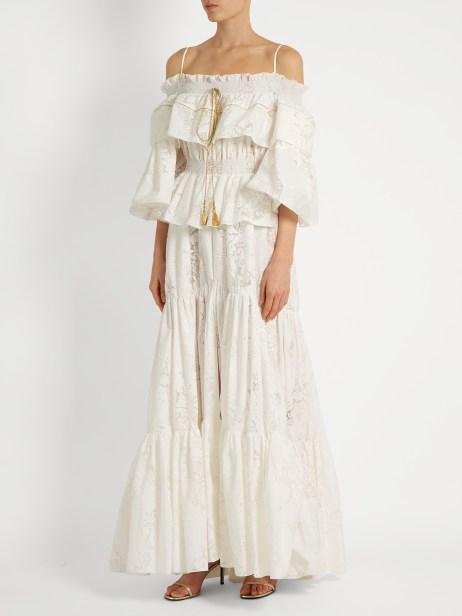 Roberto Cavalli_floral devore gown