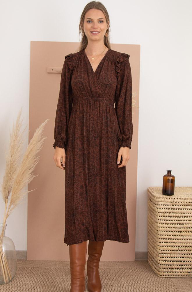 robe logue à motifs avec détail argenté