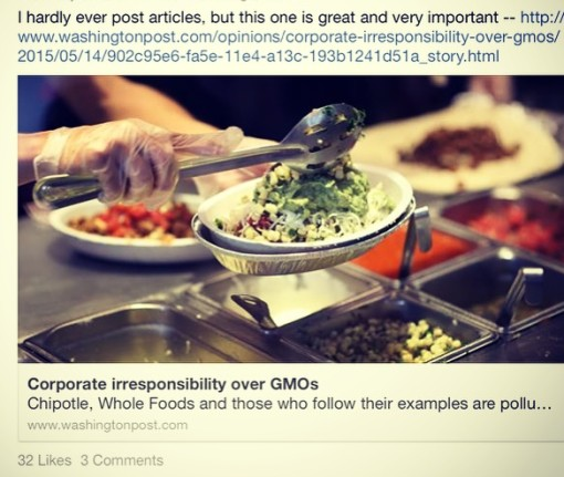 The Child calls out Chipotle for being unscientific as well as unsavory